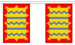 CAMBRIDGESHIRE BUNTING - 3 METRES 10 FLAGS